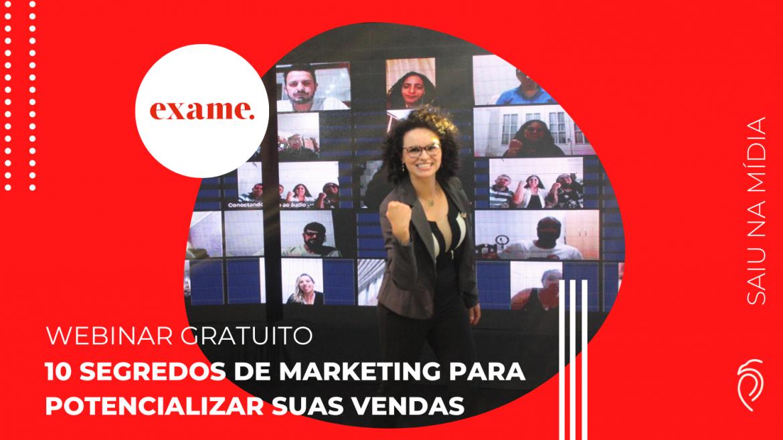 Saiu na mídia – Revista Exame indica Webinar de Marketing com a Priscila Guskuma