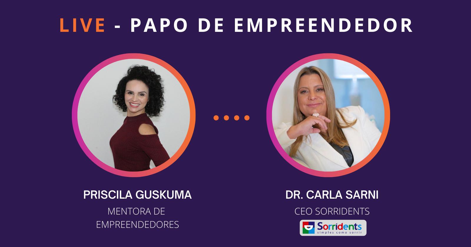Priscila Guskuma estreia live Papo de Empreendedor no Instagram
