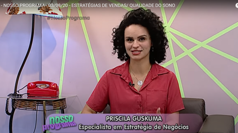 Priscila Guskuma dá dicas sobre Estratégias de Vendas na Rit Tv